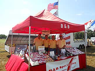 The B&B booth and crew