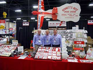 The B&B booth with left to right Denny, George and Gary